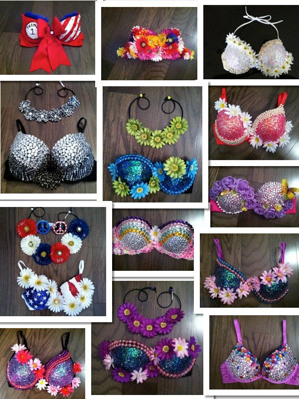 Design+your+own+Rave+Bra+Electric+Zoo+Festival+by+BrittsBlossoms,+$89.00