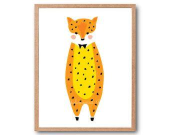 Safari Animal Print, impresión del arte del bebé leopardo, Safari del bebé ducha, bebé Animal Print, bosques animales, los niños sala de arte, Safari vivero deocr