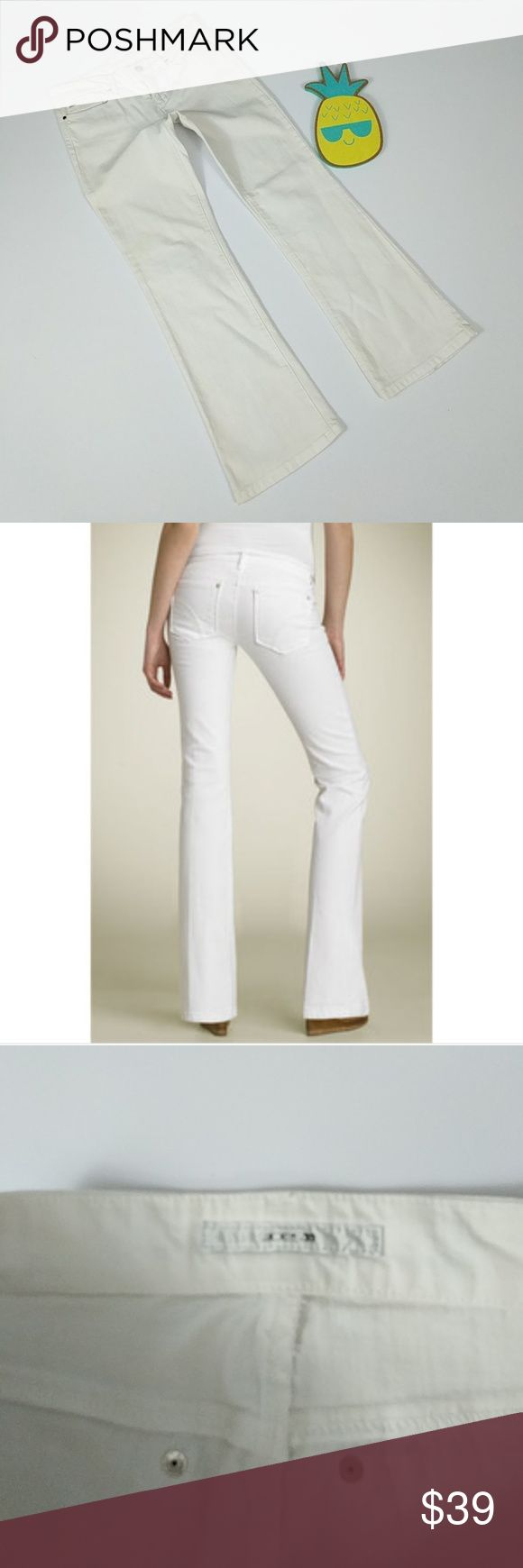 Joe's Jeans Stretchy Provocateur Bootcut Jeans Get ready for summer! White bootcut jeans from Joe's in a mid-rise petite fit. Laying flat and unstreched, jeans measure approximately 16 inches across the waist, 8 inch rise, and 29.5 inch inseam. Joe's Jeans Jeans Boot Cut