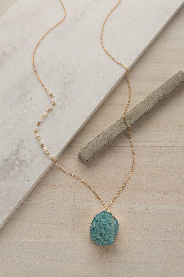 Glitter + Gold Necklace | ShopDressUp.com