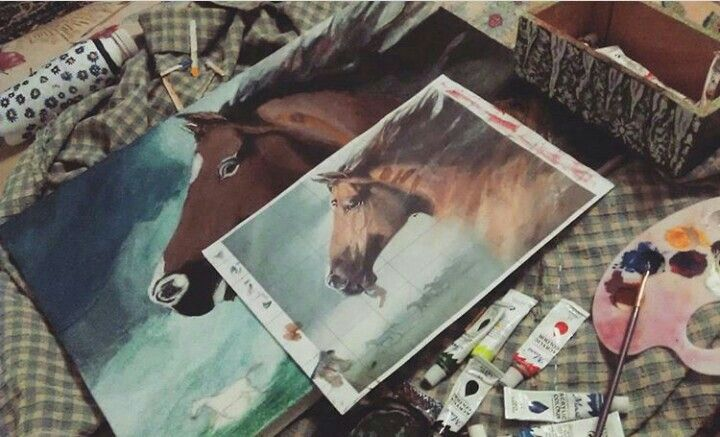 #art #sanat #at #painting #drawing #horse #akrilik #tablo #resim