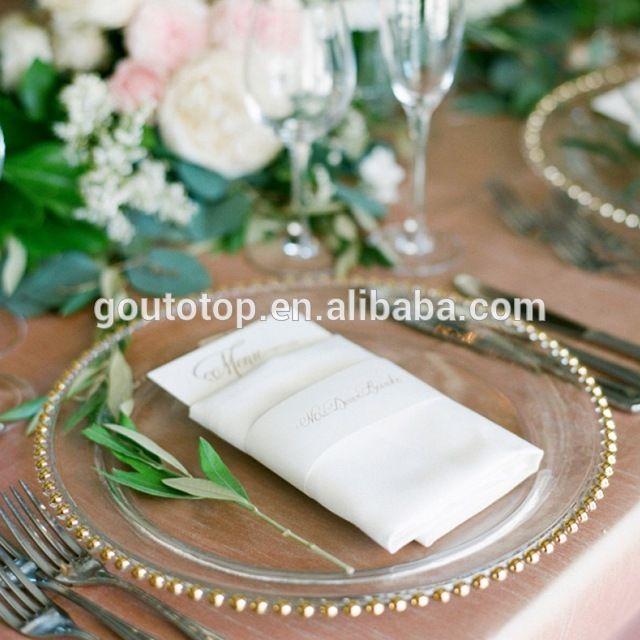 Source Cheap bulk hotel Wholesale Wedding Gold Silver clear steak Glass Charger Plate wedding colored beaded glass charger glass plates on m.alibaba.com