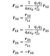 What does Coulomb's law mean?