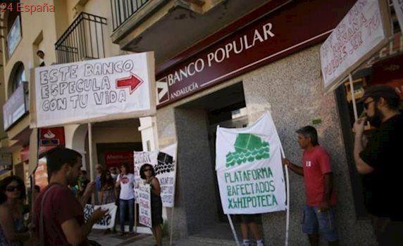 Un grupo de afectados por la caída del Banco Popular organiza una manifestación en Madrid