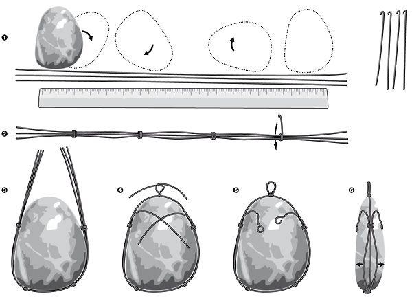 Steine einfassen mit Draht - Easy Tutorial