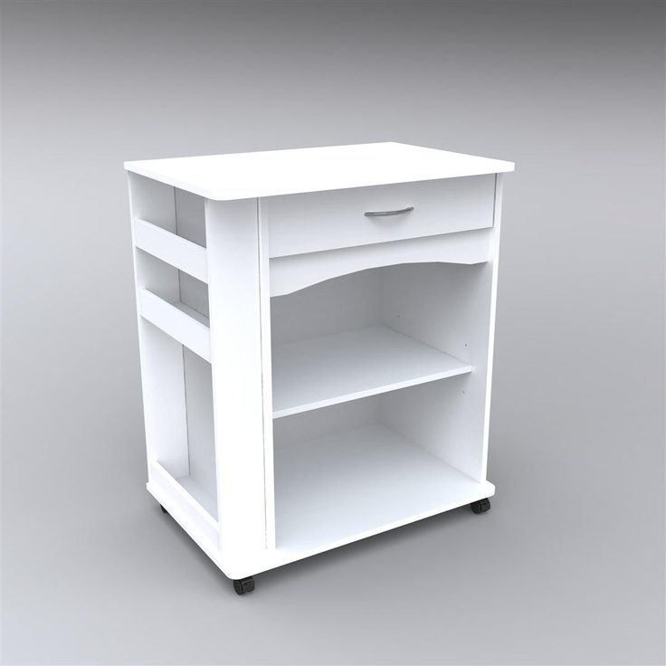 Storage Microwave Cart With Side