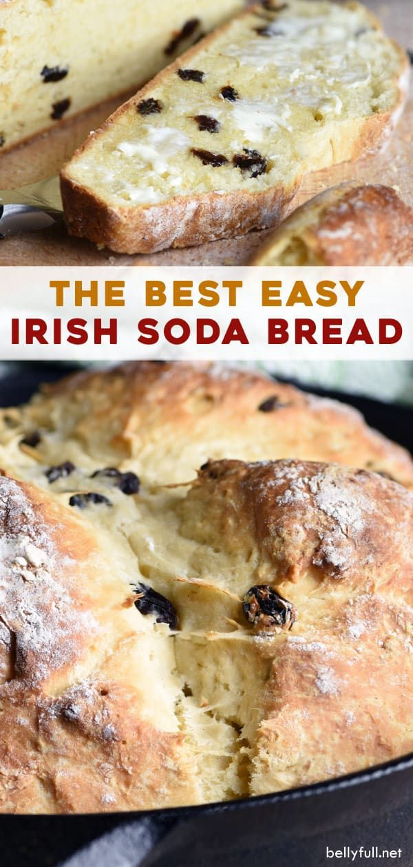 This Irish Soda Bread Recipe Made With Buttermilk And Raisins Is Absolutely Delicious And So Easy In 2020 Buttermilk Recipes Irish Soda Bread Recipe Raisin Recipes