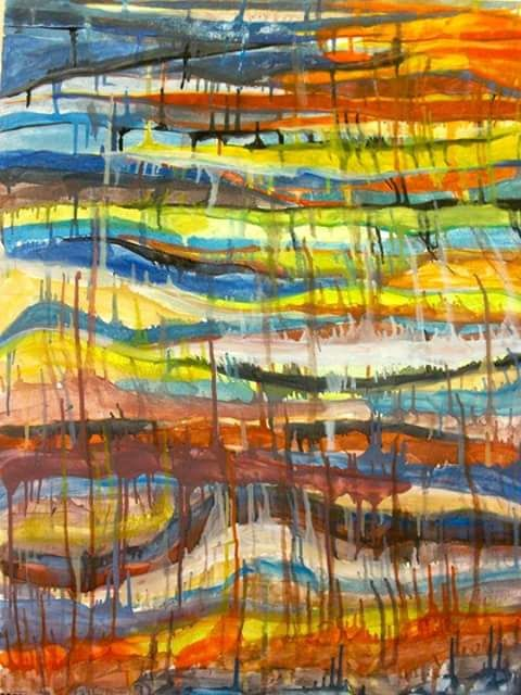 Acrylic Paint on Board. Stace Scallan