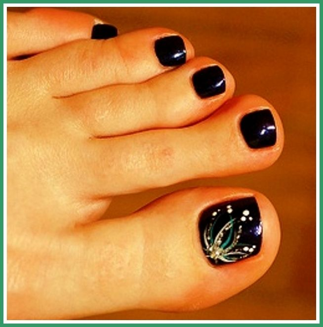 Toe Nail Designs Black, toe nail art designs for beginners ~ Pretty Nail Ideas