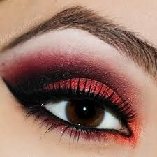 red eyeshadow and red eyeliner - Google Search