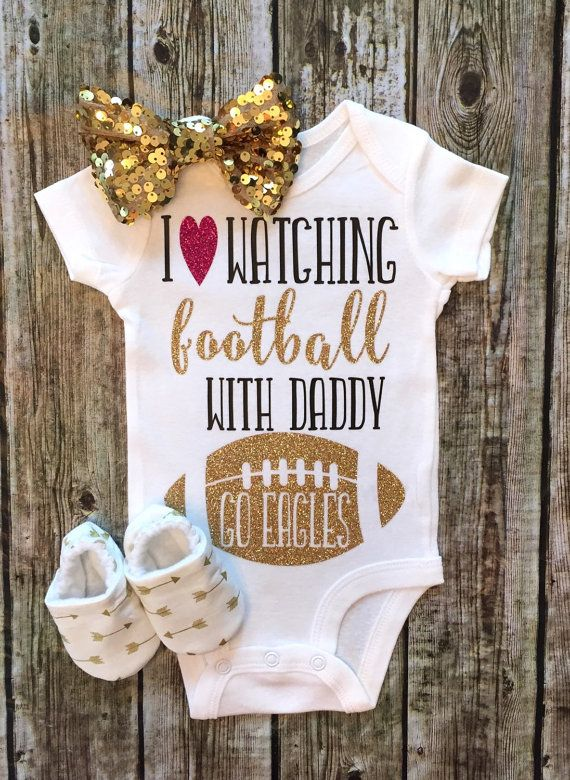 I Love Watching Football With My Daddy Onesie by