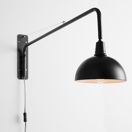 Plug In Swing Arm Sconce Plug In Wall Lamp Plug In Wall Sconce Sconces