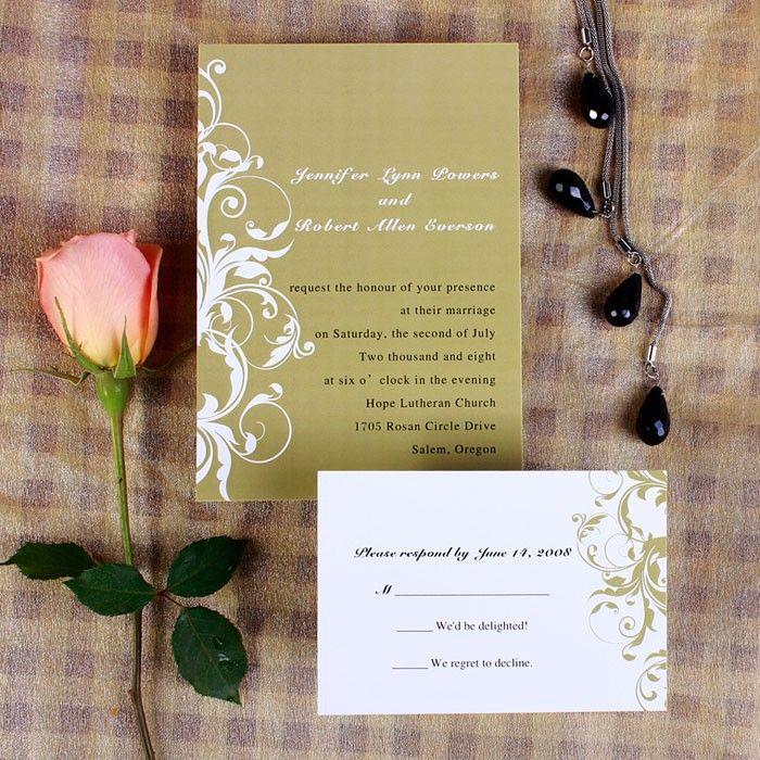 wedding invitations online au%0A Gold Poetic Wedding Invitations AUS    Invitation Cards Australia
