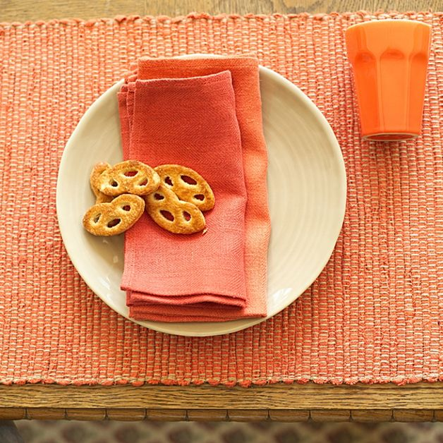 autumn in DaWanda Napkins & Napkin Rings – Orange Linen Napkin Lara – a unique product by LinenMe on DaWanda