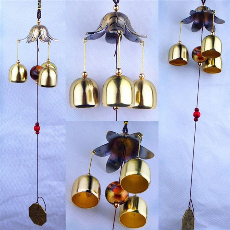 LS4G Hanging Wind Chime Bell Chinese Oriental Lucky Metal Pagoda Feng Shui Brass Buddha Elephant Spitor Fortune Lijiang Style