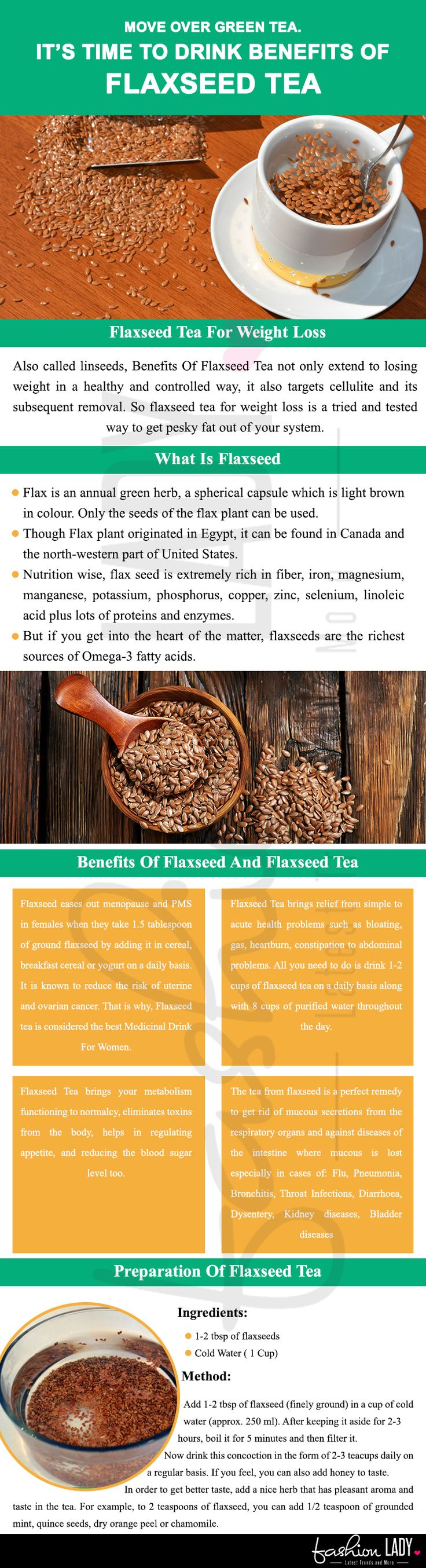 Move Over Green Tea. It's Time To Drink Benefits Of Flaxseed Tea