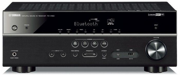 The Yamaha RXV483 features MusicCast, Bluetooth and WiFi connectivity, opening up a wide range of listening options to the user. Virtual Cinema Front and Cinema 3D DSP technologies and 4K UHD support make for an absolutely stunning, high quality sound and visual experience. Black.