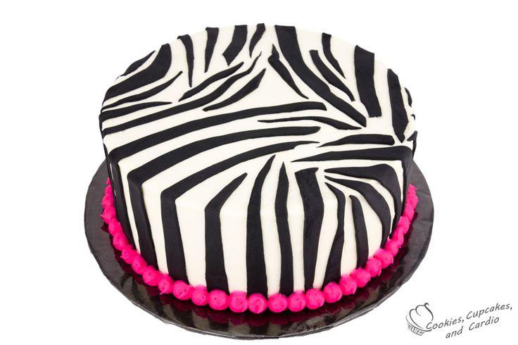 Pink Zebra Cake: http://cookiescupcakesandcardio.com/?p=4839 #zebracake #zebra #cake