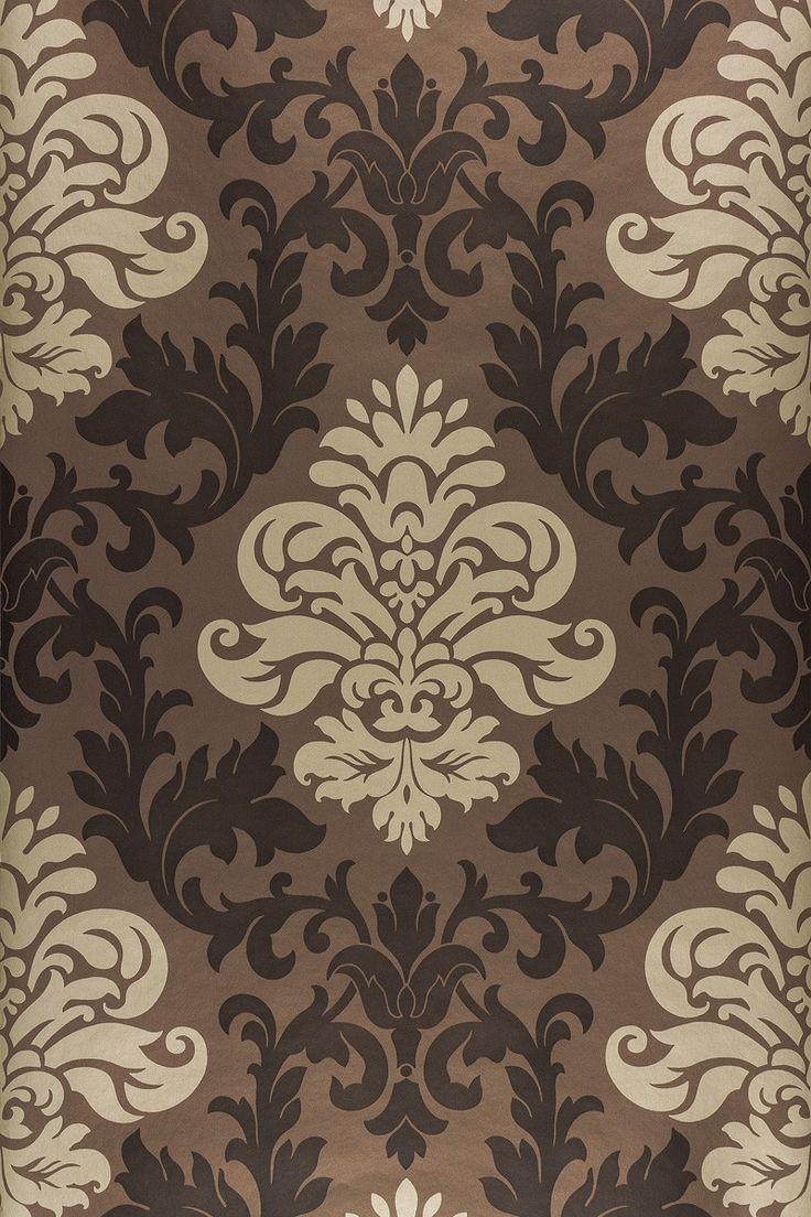 Nice Tapete Barock Ornamente Rasch Lounge Glanz Braun 156645 Awesome Ideas