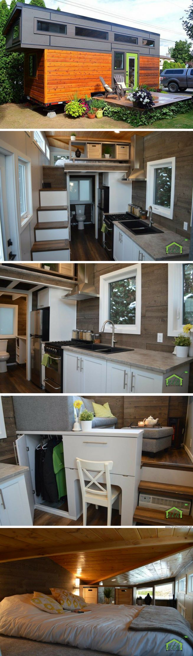 The Pursuit: a 280 sq ft tiny house with a modern/rustic design!