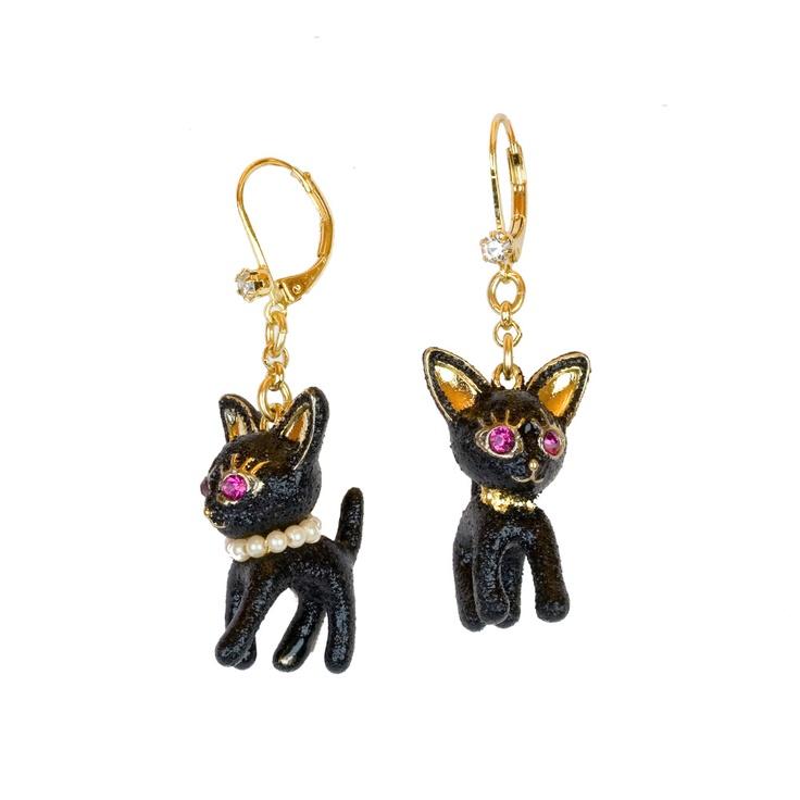 Cat Drop Earrings