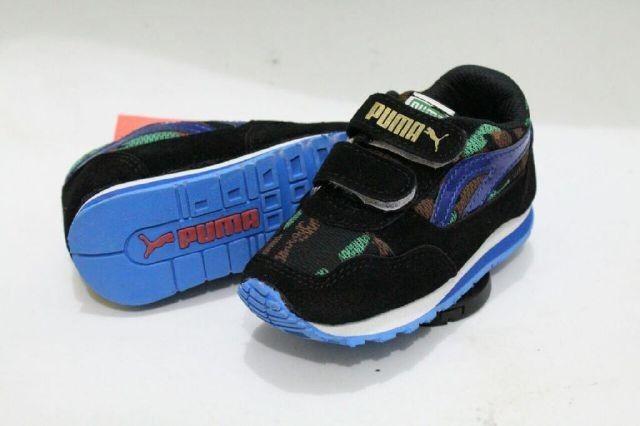 SH071 Sepatu Anak Puma Black Blue Size 23 24 25 26 27 Rp 95.000 (ready)