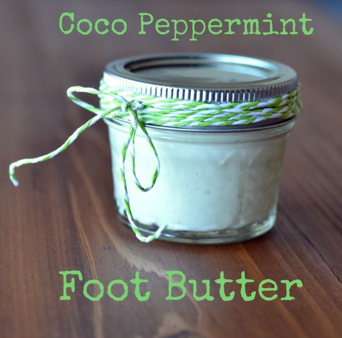DIY Coco Peppermint Foot Balm to really help your dry tootsies.  Use this DIY beauty product on your knees and elbows, too