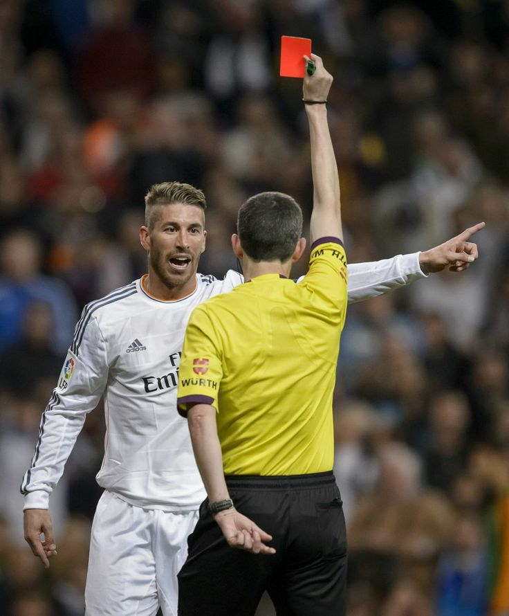 Ramos sees red card against Barcelona