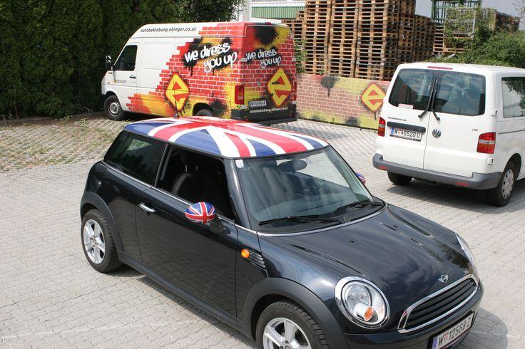 Mini Teilfolierung #Autofolierung #carwrapping #vehiclewrapping #Wrapping #Folie #Kfz #Folierung #Unionjack #GB #Mini