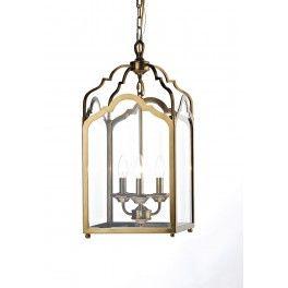 Cognac 3 Light Pendant Antique Brass
