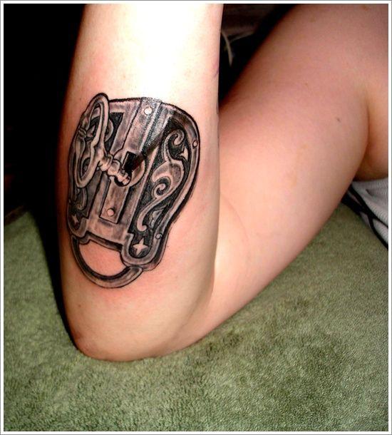 lock tattoo design (12)