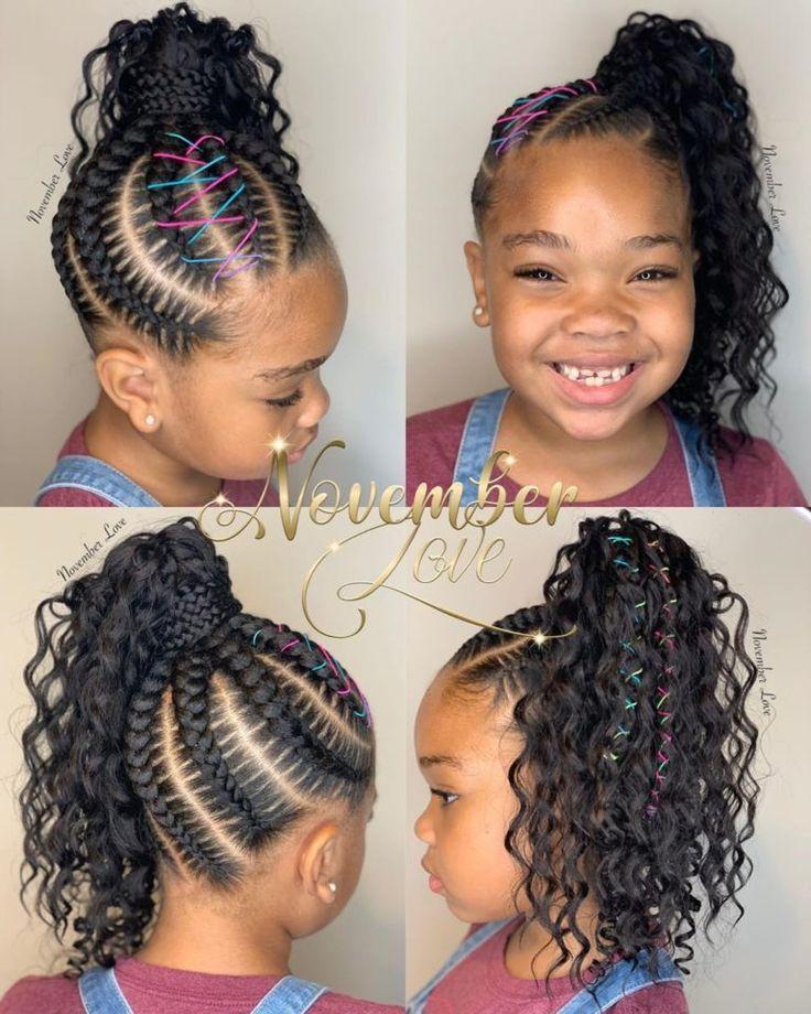 Kid Braid Styles Back To School Braided Hairstyles For Kids Black Beauty Bom Coupe De Cheveux Enfant Coiffure Cheveux Naturels Coiffures Pour Enfant