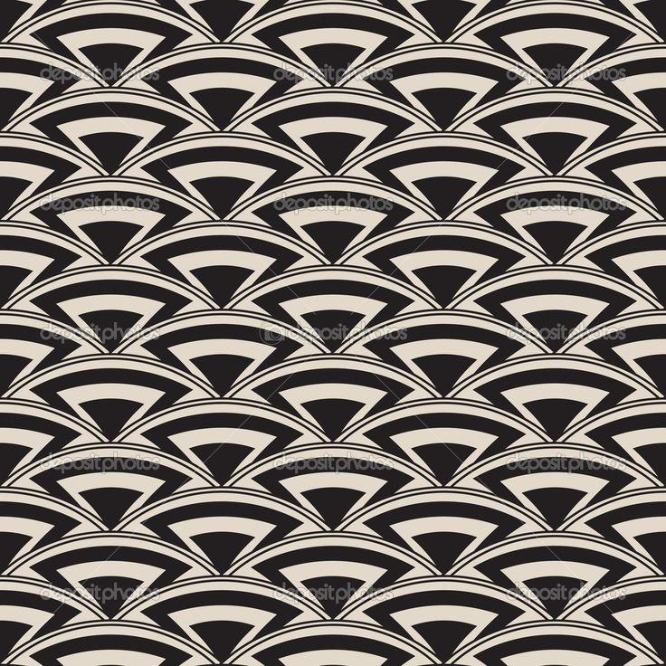 Retro naadloze patroon in art decostijl — Stockillustratie #32071625