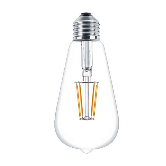 Ledowa żarówka dekoracyjna o mocy 4 W, daje światło porównywalne do 40 W-owej tradycyjnej żarówki. Ten model, dzięki dekoracyjnym pomarańczowym żarnikom świeci barwą cieplejszą nawet niż jej Edisonowy odpowiednik ST64. Przeznaczona jest do stosowania wewnętrznego, zwłaszcza do lamp z otwartymi lub przezroczystymi kloszami. Dzięki rozbudowaniu wewnętrznego modułu żarowego, żarówka intryguje rozległym polem świecenia. Sprawdza się jako źródło światła dekoracyjnego w pomieszczeniach o…