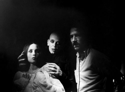 "Isabelle Adjani, Klaus Kinski e Werner Herzog sul set - ""Nosferatu, il principe della notte""(Nosferatu: Phantom der Nacht), 1979"