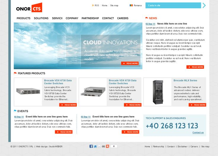 Layout proposal for an electronic online shop.