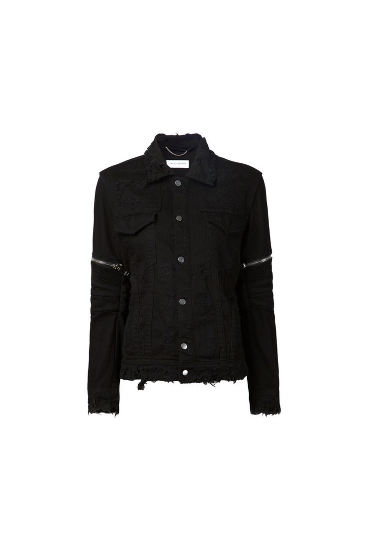 {Christian Dada / 01 clothing / 07 outerwear / 01 jacket / 05 denim} Distressed Denim Jacket