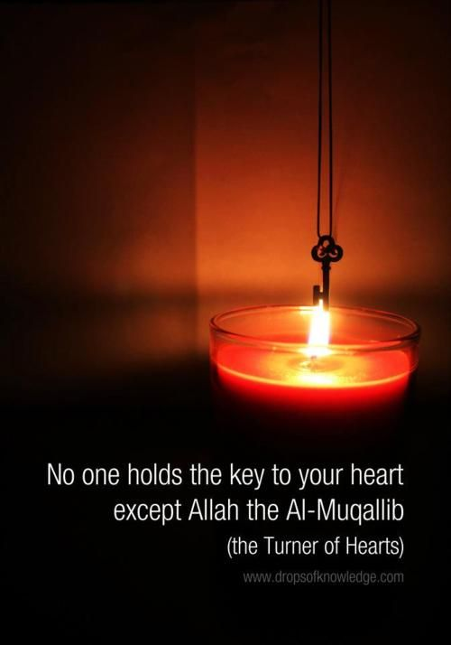 Allah is the only one who can turn your heart.