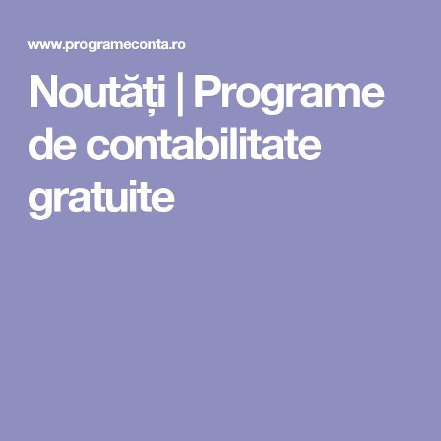 Noutăți | Programe de contabilitate gratuite