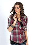 Cruel Girl Ladies' Katie Plaid Shirt - http://www.fortwestern.com/cruel-girl-ladies-katie-plaid-shirt/p/426850/