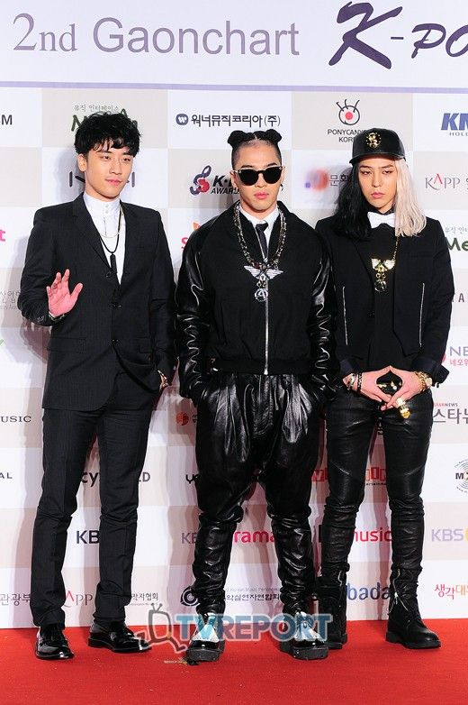 Big Bang (Seungri, Taeyang and GD) @ 2nd Gaon Chart K-Pop Awards