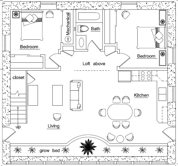 ideas about Affordable House Plans on Pinterest   Floor    Beach House Plans  House Plans Small  Ideas Combinations  Sandbag Houses  Cobb Houses  Earthbag House  House Click  Natural Houses  Straw Bale House