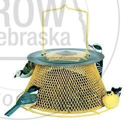 No/No Sunflower Basket Bird Feeder: No-No wild bird feeders contain no wood and no plastic, making them last for years and years. Because of it's all metal design, this bird feeder is squirrel damage resistant and allows for rain and snow to run or blow right through it. No cleaning needed, but it is dishwasher safe if you insist! #GrowNE www.buynebraska.com/Sweet-Corn-Products-Sunflower-Basket-Bird-Feeder-p/1656.htm
