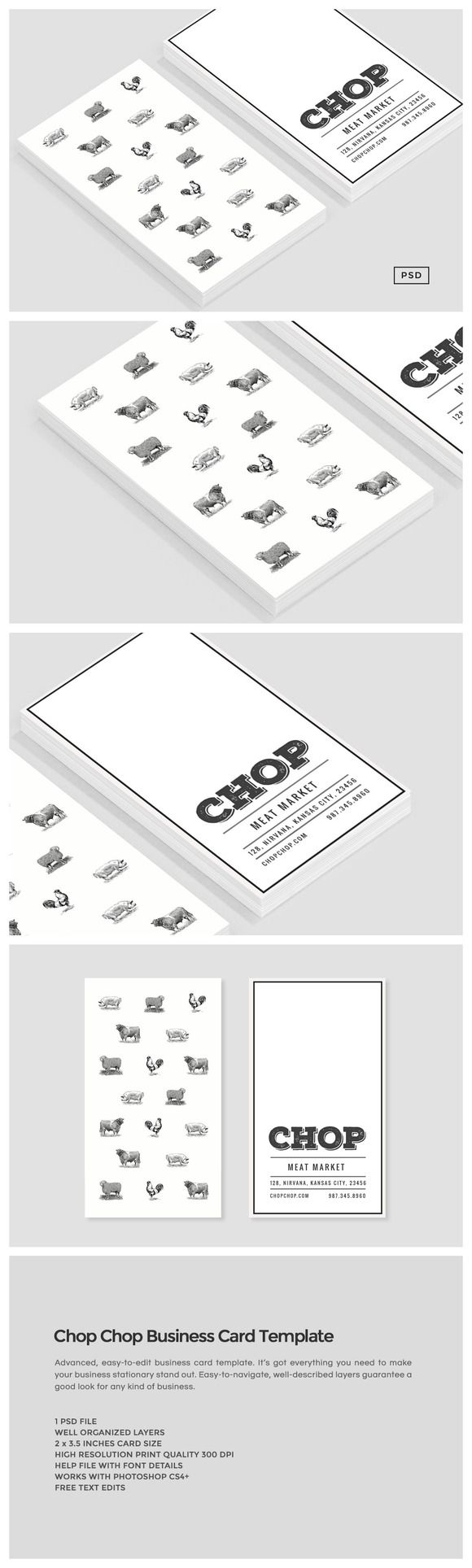 194 best business cards templates images on pinterest boxes chop chop business card template by the design label on creativemarket magicingreecefo Image collections