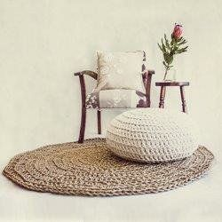 Crochet Floor Cushions: Soft Cotton Rope: Large by PommePomme