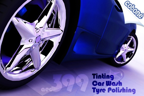 Make your car gleam with tinting; headlights, rims and tyre polishing; waxing and interior vacuuming for AED 399 from Nabea Al Saada Car Polish (Value AED 800) – 2-year warranty included! #AbuDhabi #AD #car #deals