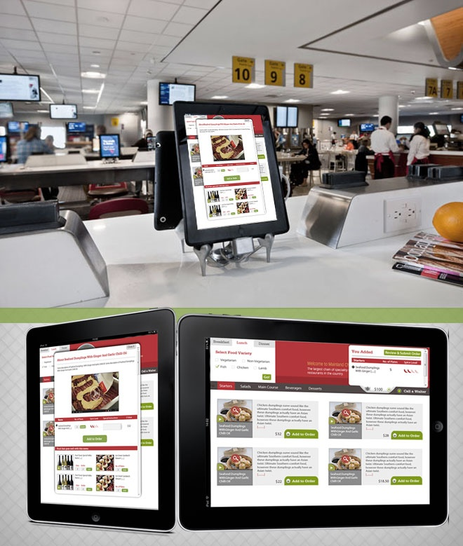 Our Latest Project IPad App For Restaurant Management