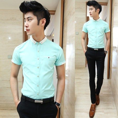 Exclusive small size men women party club dress shirt for Small collar dress shirt