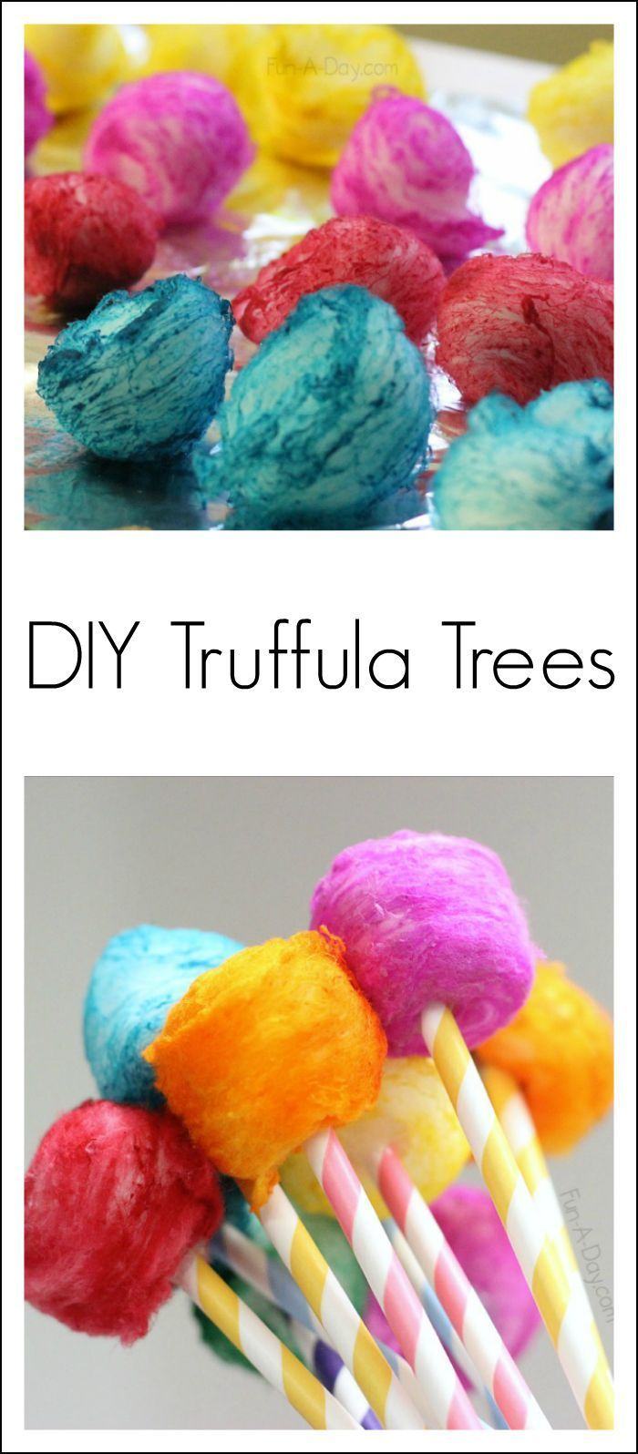 DIY Truffula trees - a colorful Dr. Seuss craft kids can make after reading The Lorax