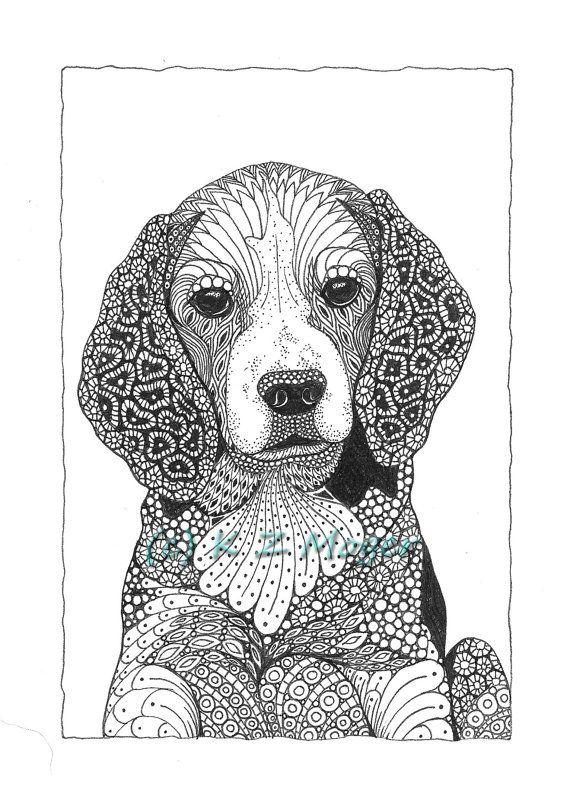 Pequeña/mediana raza perro retratos - razas pequeñas y medianas de impresiones-selección de mate
